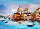 Venice Oil Painting Italy Original Art Landscape Painting Italy Artwork Venice