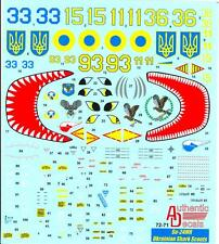 Authentic Decals 1/72 SUKHOI Su-24MR FENCER UKRAINIAN SHARK SCOUTS Fighter