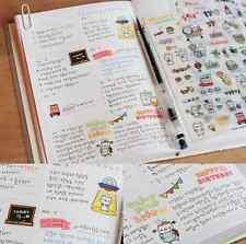 6 Sheets Transparent Calendar Diary Book Scrapbook Sticker Lot Lovely Pattern EY