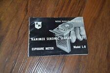 Guía de Vintage hanimext Sekonic líder de Luxe L-8