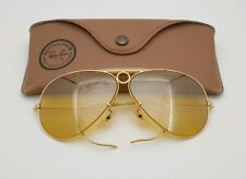 9ad4514613 Vintage B L Ray Ban Bausch   Lomb Shooters Full Mirror Ambermatic 62mm ...