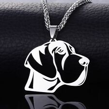 Stainless Steel Natural Ear Great Dane German Mastiff dogue allemand Dog Pendant