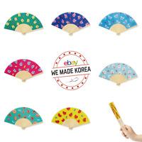 BT21 Character Pattern Bamboo Folding Handy Fan 7types Authentic K-POP Goods