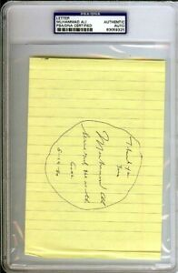 Muhammad Ali Certified Authentic Autographed Signed Letter PSA/DNA COA 83059325