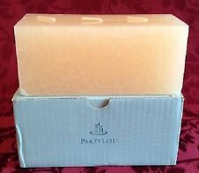 Partylite WHITE TEA & GINGER BRICK  3wick candle