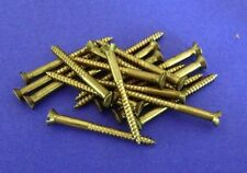 "20 x Solid Brass Countersunk Slotted Wood Screws 12g x 2 1/2"" Australian Made"
