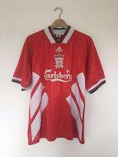 Retro Liverpool 1993/95 Hogar Camiseta de fútbol (L) Vintage Fútbol Adidas Jersey Top