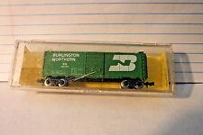 1980-90 VINTAGE ATLAS N GAUGE BURLINGTON NORTHERN 40' BOX CAR! #3407 IN CASE!