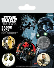 Button Badge 5er Pack STAR WARS - Rebels - Rogue One 1x 38mm & 4x 25mm BP80561