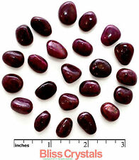 2 Small Ruby Tumbled Stone 2 gm ea (TW 20 Carat) Crystal Healing & Jewelry #S2