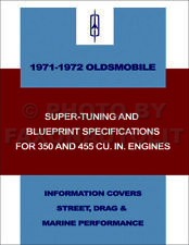 1971 1972 Olds 350 455 Engine Super Tuning and Blueprinting Manual Oldsmobile
