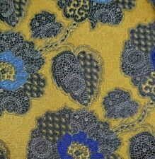 ERMENEGILDO ZEGNA Tie 100% Silk Gold/Silver/Blue Color L60 W3.7