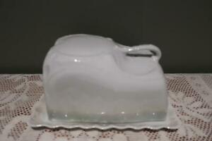 Vintage Victoria Austria Bone China Cheese / Butter Dish And Cover - Lustre - Rc