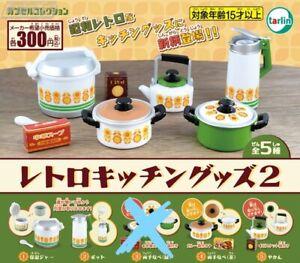 Set of 4  1/6 Capsule miniature Tarlin Nostalgic Showa retro kitchen goods Set A