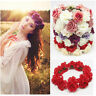 Women Girls Bride Wedding Flower Wreath Crown Headband Floral Garlands Hairband