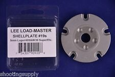 Lee Load Master Shell Plate #19S 9mm 40 S&W 38 Sup 357 Sig New in Package #90920