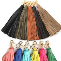 Women bag accessory genuine leather tassel charm Key chain ring Handbag ornam397