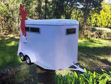 HORSE FLOAT LETTERBOX US style MAIL BOX MAILBOX INDICATOR WHITE NEW  STYLE LARGE
