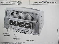 1948, 1949, 1950 CHRYSLER PRODUCTS 803 RADIO PHOTOFACT