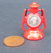 1:12 Scale Non Working Red Tilly Lamp Dolls House Light Folding Handle Accessory