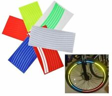 Blue Reflective Wheel Rim Glitter Sticker Tape Decals Motorcycle Bicycle Cycling