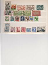 COLONIES FRANCAISES (AEF, AOF, Algérie,Maroc, Tunisie) : 23 timbres oblitérés