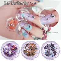 1 Box 3D Butterfly Nail Sequins Nail Art Flakes Slices DIY Charm Manicure