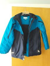Columbia Womens large coat with hood 2toned blue