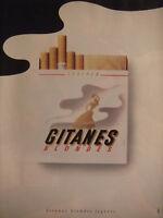 PUBLICITÉ DE PRESSE 1990 GITANES BLONDES LÉGÈRES - ADVERTISING