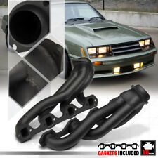 Black Painted Shorty Exhaust Header Manifold for 79-93 Ford Mustang 5.0 302 V8