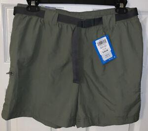 "New Columbia Omni-Shade Sandy River Cargo Shorts Womens Large 6"" Green NWT"