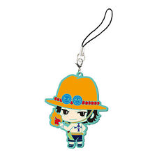 One Piece Ace Rubber Phone Strap NEW