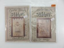 Country Friends Stitchery MY COUNTRY LINEN & LACE Embroidery Patterns NEW