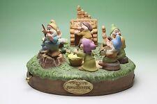Disney Snow White's Seven Dwarfs Orchestra Porcelain Figurine Music Box Japan