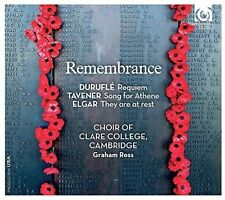 The Choir of Clare College Cambridge - Remembrance [New CD]