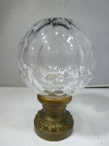 ANTIQUE HAND BLOWN HONEYCOMB GLASS  NEWEL POST FINIAL  # 2