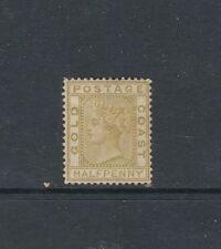 GOLD COAST: 1876-94 QV Wmk Crown/CC, Perf 14 ½d Olive-yellow SG 4 ₤95, hinged.