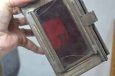 oil lantern Sherwoods nautical carriage RR  lamp kerosene red glass tin antique