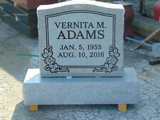 Granite headstone-grave marker- gray- multiple engraving options 22 x 6 x 20""