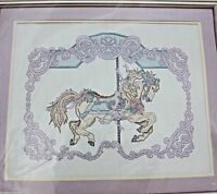 Counted Cross Stitch Kit Something Special Vintage New Sealed Carousel Horse