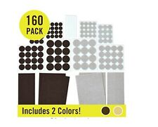 Felt Pads (160 Variety Pack, Multi-Color) Heavy Duty Adhesive Furniture Pads