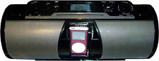 iLive Black 2.1-Ch Portable CD Boombox iPod Dock FM Radio Timer Clock IBCD3817DT