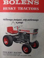 Bolens 770 850 1050 1250 Lawn Garden Tractor & Imp Sales Brochure Catalog Manual