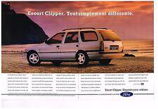 Publicité Advertising 1991 (2 pages) Ford Escort Clipper