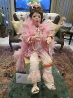 """MARY VAN OSDELE """"MAXINE"""" DOLL PLAYING DRESS UP COLLECTION SIGNED 28"""" WITH BENCH"""