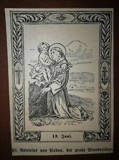 Heiligenbild  ANTONIUS PAD.  holy card  SANTINI  image pieuse BIDPRENTJE estampa