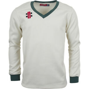 Clearance New Gray-Nicolls Cricket Velocity Sweater Green Trim [Various Sizes]
