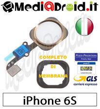 APPLE IPHONE 6S ORO TASTO HOME TOUCH ID PULSANTE CENTRALE MENU LETTORE IMPRONTE