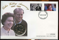 Sierra Leone 1997 Golden Wedding Set of 3 Coin FDCs First Day Covers #C13080