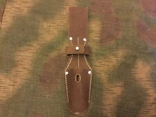 WW2 German Lufwaffe Mauser 98K Bayonet Frog Brown Leather New Reproduction